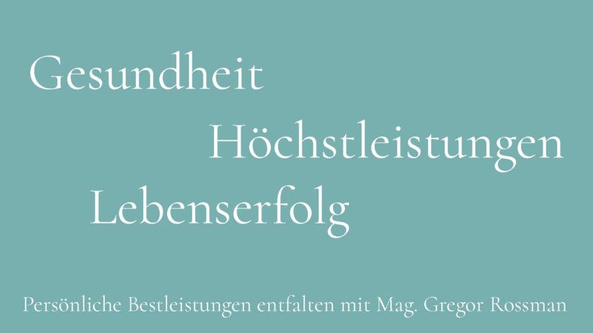 High-Level-Coachprogramm mit Gregor Rossmann